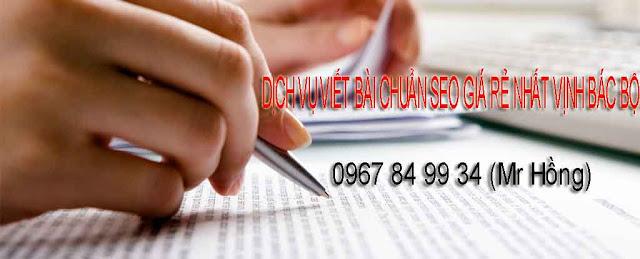 Dịch vụ viết bài chuẩn SEO cho Website giá rẻ